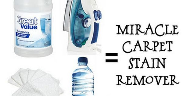 MIRACLE CARPET STAIN REMOVER -- Fill an empty spray bottle with 1