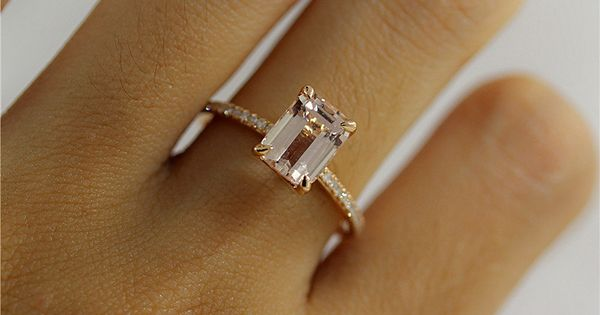 Morganite Such a lovely stone with a sweet meaning I think I prefer it ove