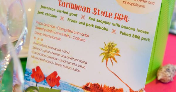 1000 Ideas About Caribbean Party On Pinterest: Caribbean Tropical Beach Party Menu