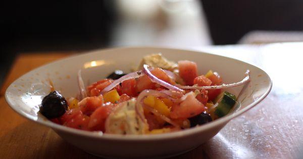 Recette salade grecque traditionnelle cuisine grecque - Cuisine grecque traditionnelle ...