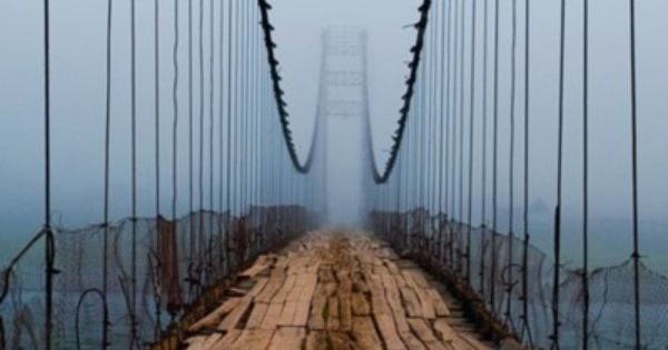 Plank Bridge, Cascille, Northern Ireland. What's beyond the bridge? beautifully creepy! ;)