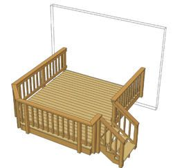 10 X 12 Single Level Deck W Angled Corner Patio Deck Designs Small Deck Designs Deck Designs Backyard