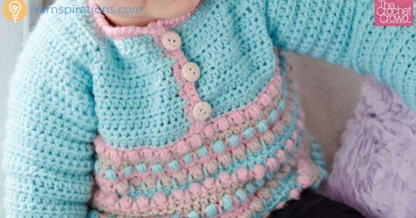 Crochet Baby Jacket Tutorial : Crochet Baby Pull Over Sweater + Tutorial