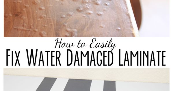 How To Paint Perfect Lines And Fix Water Damaged Laminate