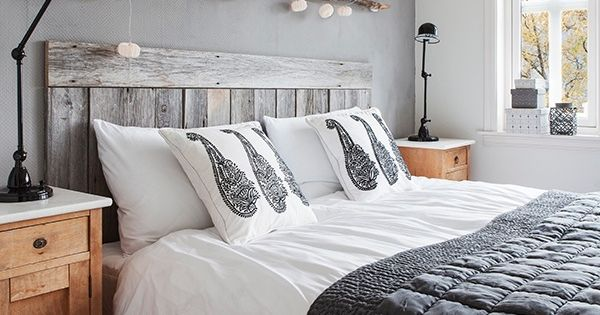 Rustic White Washed Pallet Headboard Bed Frames