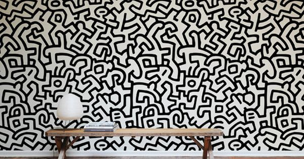 Keith Haring wall tiles available from Blik