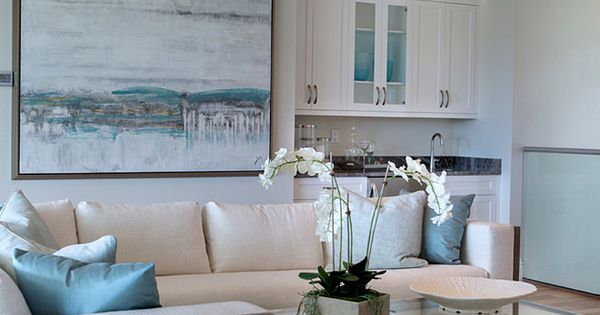 Living Room With Turquoise Accents Robb Stucky