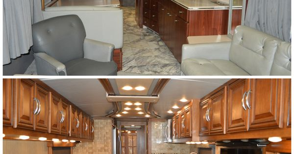 Before & After Interior renovation on a 1991 Bluebird ...