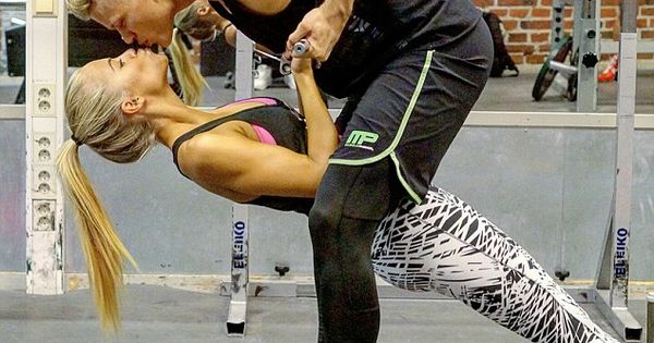 Sporty couple become instagram sensation with tandem gym