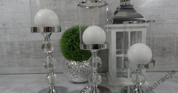 Swiecznik Kielich Srebrny Stal Chromowana 6102470950 Oficjalne Archiwum Allegro Candle Holders Candles House