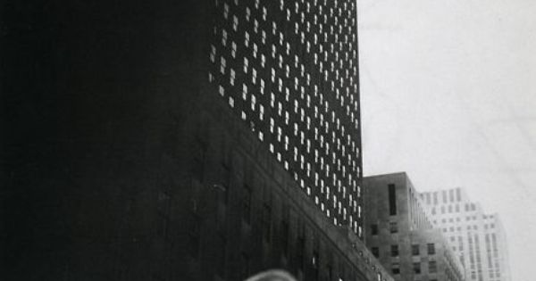 Louis Faurer Looking Toward RCA Building at Rockefeller Center New York City,