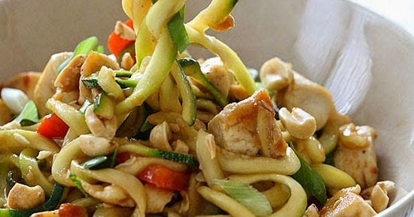 Kung Pao Chicken Zoodles For Two | Weight Watchers Recipes