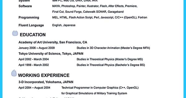 animation resume templates if you like to work in creative