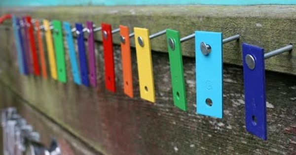 Dismantle an old xylophone and re-hang the keys somewhere on your music