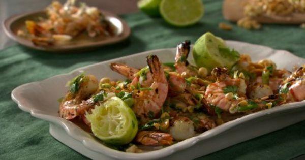 grilled shrimp w/ cilantro lime & peanut | Favorite Recipes ...