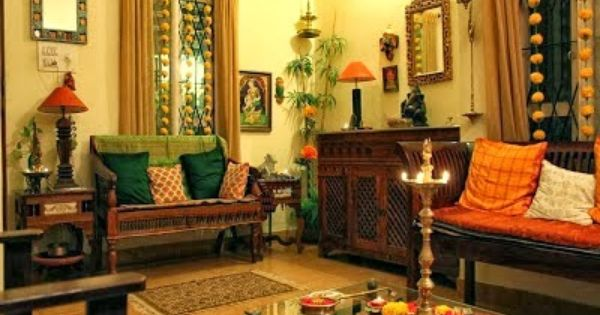 Design decor disha home tour shalu prasad indian for Indian ethnic living room designs