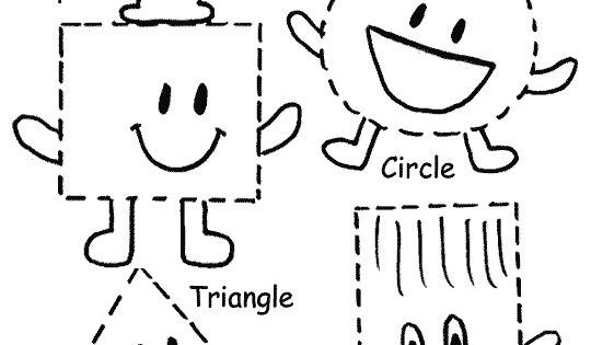 Find Trace Color And Count The Shapes Oval Ii Square