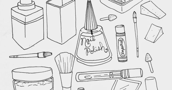 coloring pages for makeup - photo#12
