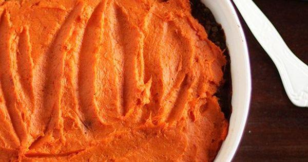 Lentil, Mushroom & Sweet Potato Shepherd's Pie   Recipe   Lentils ...