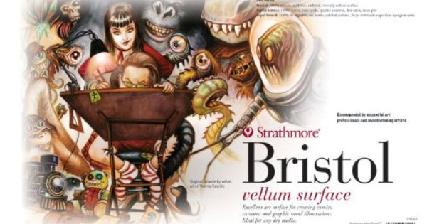 Strathmore 500 Series Bristol Board 2ply Vellum Surface Drawing Pad 11 X 17 Amazon Co Uk Toys Games Artist Materials Bristol Board Sewing Art