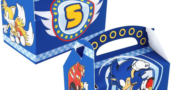 Sonic The Hedgehog Empty Favor Boxes Polka Dot Balloons