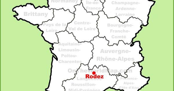 Rodez location on the France map Maps Pinterest Frances o