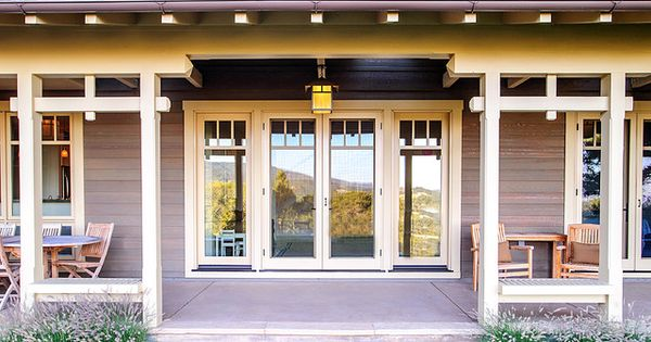 Craftsman Style Swing Out Hinged French Doors Craftsman