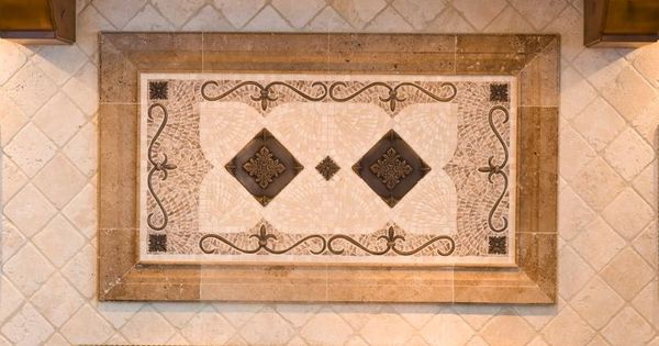 Kitchen Backsplash Medallions porcelain tile backsplash gallery | backsplash tiles,stone inserts
