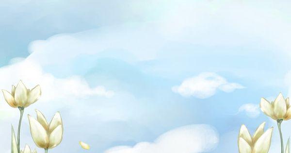 سماء زرقاء غيوم بيضاء نمط زهرة المراعي White Clouds Blue Sky Background Clouds