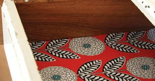 Adorable drawer liner project (reminds me of C's dresser in her room).