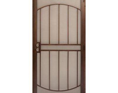 Unique home designs 36 in x 80 in arcadamax copper surface mount outswing steel security door - Unique home designs security door ...