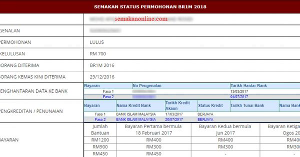 Bsh 2020 Semakan Status Bantuan Sara Hidup Fasa 1 Januari Tech News Status Screenshots