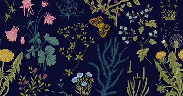 Vintage Dark Herbs Wallpaper Self Adhesive Wallpaper Wall Etsy Wallpapers Vintage Victorian Wallpaper Graffiti Wallpaper