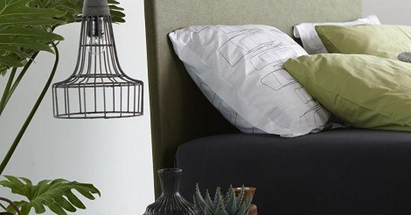 Nox met hoofdbord torino cavaliere groen kunstleder theo bot slaapcomfort matras op maat - Groen hoofdbord ...