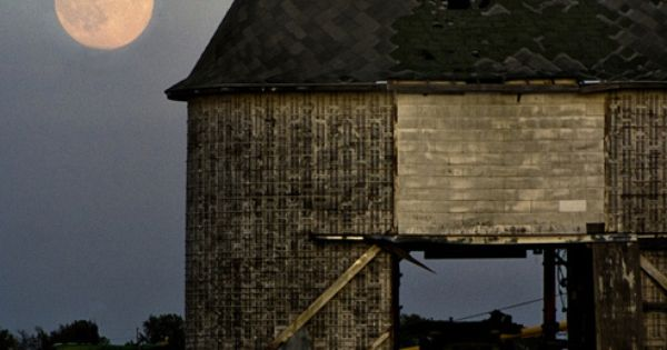 Old Barn. Full Moon.