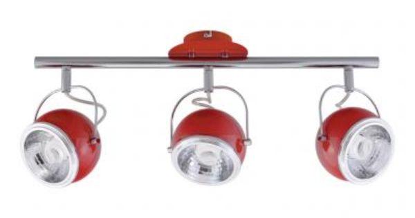 Listwa Spot Light Ball 3 Czerwona Kinkiet Zarowki 6011664808 Oficjalne Archiwum Allegro Ceiling Lights Track Lighting Light