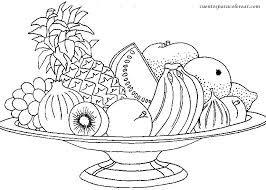Resultado De Imagen Para Frutas Y Verduras Para Colorear Frutas