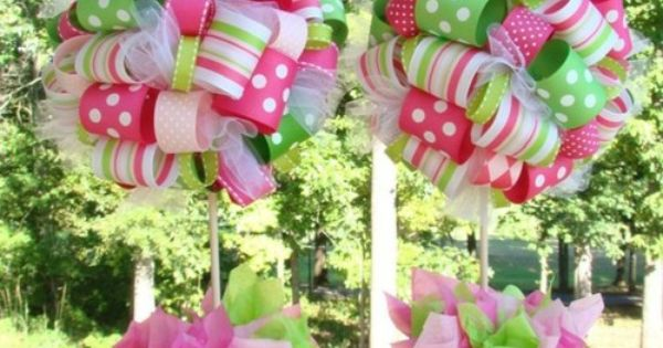ribbon topiaries - so easy to make!