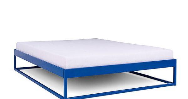 Simplex Das Schlichte Bett Ohne Kopfteil 160x200 Kopfteil Bett Bettgestell Aus Metall Aussenmobel