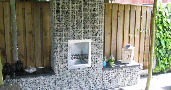De tuinhaard bbq kunt u eenvoudig tegen uw schanskorf of stenen muur plaatsen deze volledig - Veranda met stenen muur ...