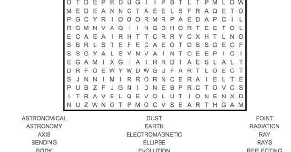 Space Word Search Hard See The Category To Find More Printable