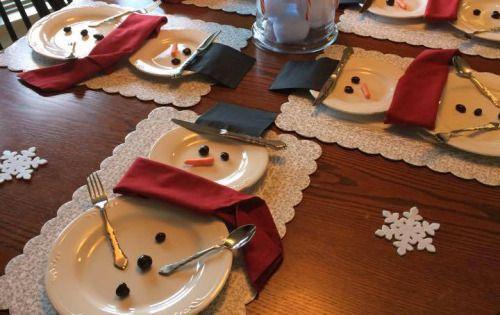 Mesa con decoracion navidad pinteres - Mesas decoradas para navidad ...