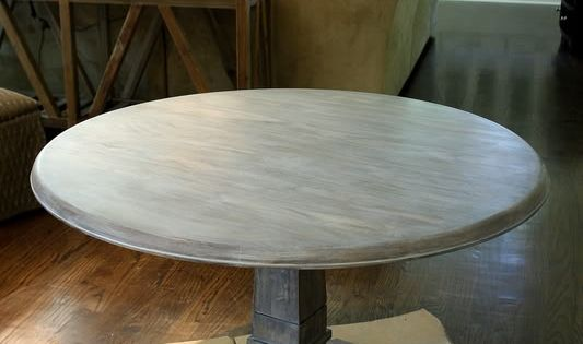 For our dining room table! How to Graywash - get the Restoration