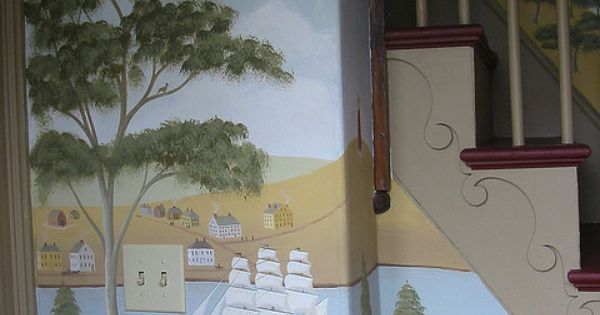 Colonial style mural by tony castro company via flickr for Colonial mural wallpaper