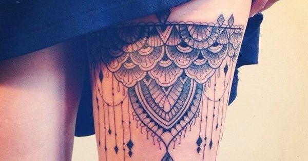 Mega kobiece tatua e z koronk zmys owe propozycje na for Blue ridge mountain tattoo