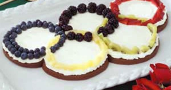 Olympic Rings Fruit Pizza Recipe...for the Olympics party!