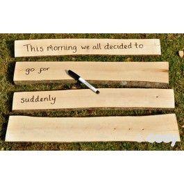Rustic sentence strips (4pk)   Sentence strips, Forest school ...
