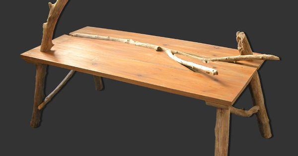Table basse en planches de r cup ration et bois flott par benoit galloudec - Table basse recuperation ...