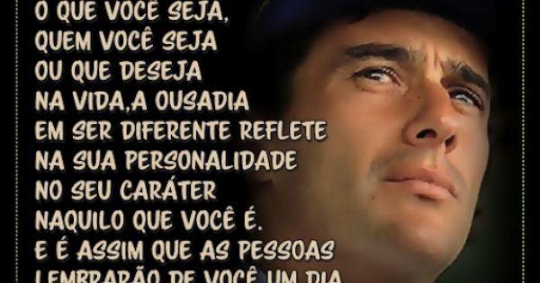 Não Importa O Que Você Seja Quem Ayrton Senna