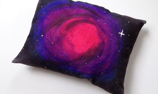 "39 DIY Gifts You'd Actually Want To Receive. Like this ""Nebula Pillow."""